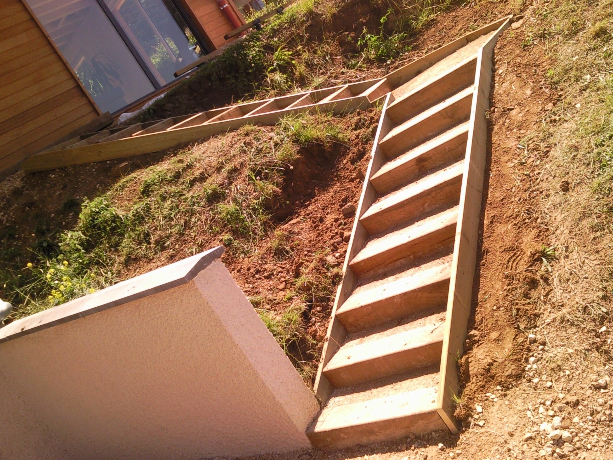Nos r alisations gouillon paysagiste cruseilles for Escalier exterieur original